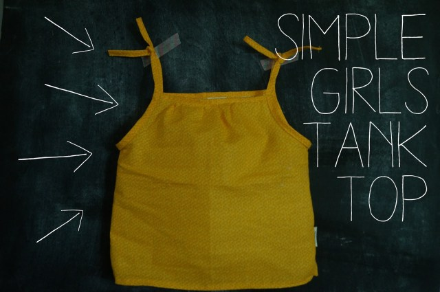 Tank Top Sewing Pattern Handmade Summer Series Part One Simple Girls Tank Top Handmade Frenzy