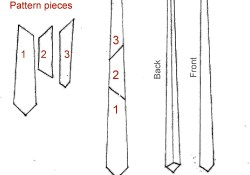 Tie Sewing Pattern How To Make A Tie