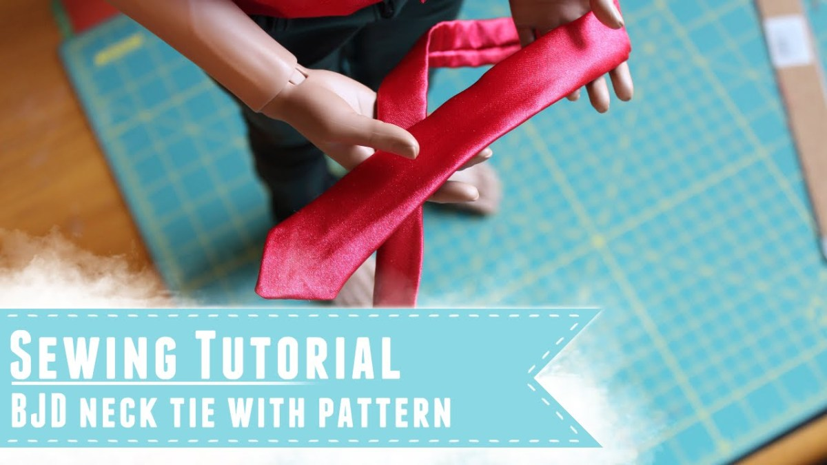 Tie Sewing Pattern Sewing Tutorial How To Make A Neck Tie For Bjds With Pattern