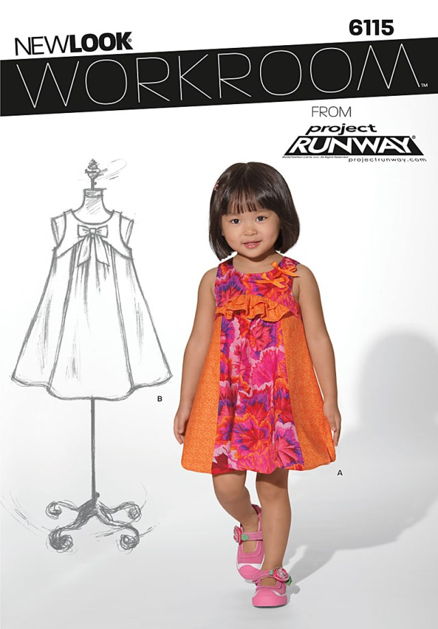 Toddler Sewing Patterns New Look 6115 Toddler Dress
