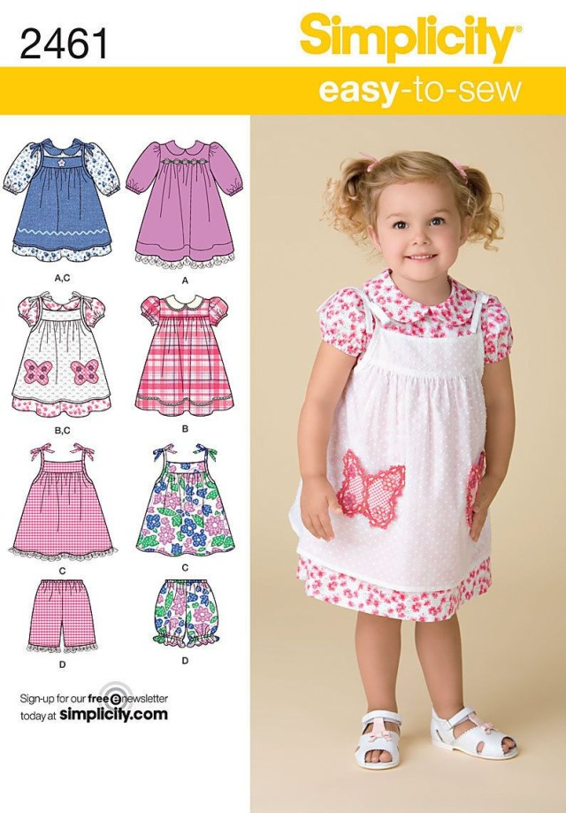 Toddler Sewing Patterns Sewing Pattern Simplicity Toddlers Dress Pinafore Shorts Sizes 1 4