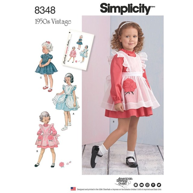 Toddler Sewing Patterns Toddlers Dress And Pinafore Simplicity Sewing Pattern 8348 Sew