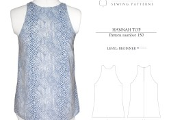 Top Sewing Pattern Salme Sewing Patterns 150 Hannah Top Downloadable Pattern