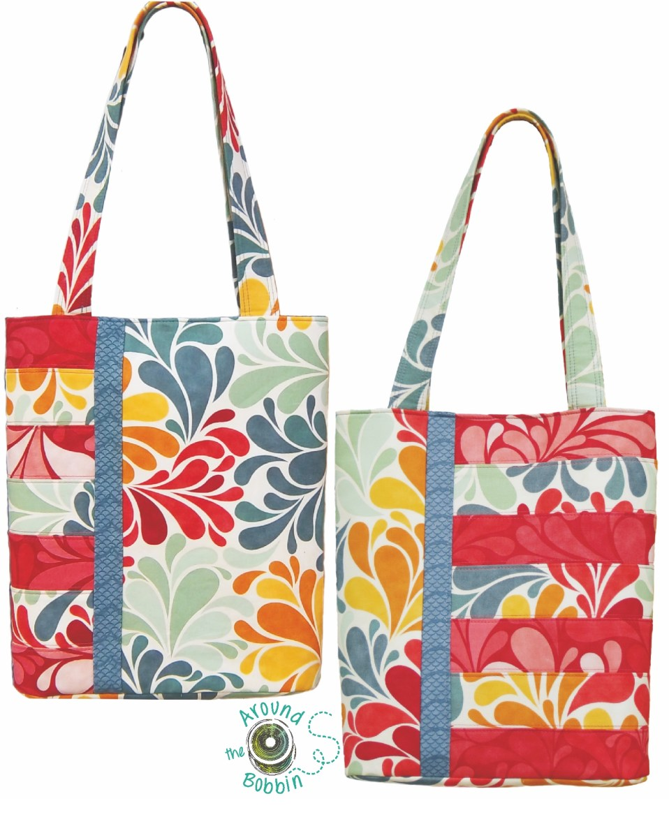 Tote Bag Sewing Pattern Book Club Bag And Sassy Tote Bag Patterns Converted To Pdf Around