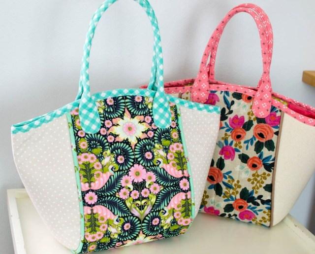 Tote Bag Sewing Pattern Diy Fabric Basket Tote Free Sewing Pattern Sewing Pinterest