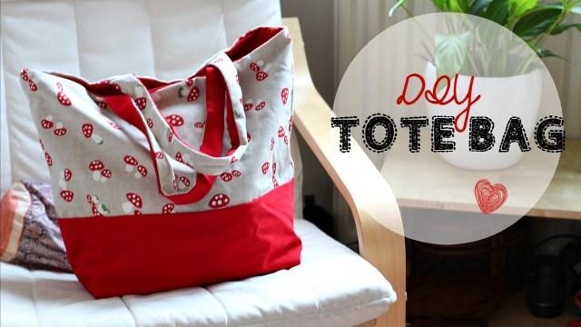 Tote Bag Sewing Pattern Diy Tote Bag Beginners Sewing Tutorial Youtube