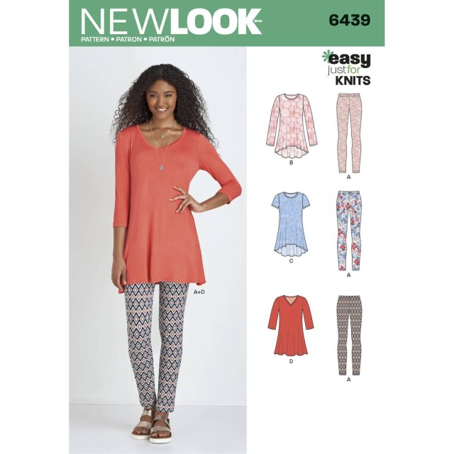 Tunic Sewing Pattern New Look Womens Knit Tunic And Trouser Sewing Pattern 6439 Hobcraft