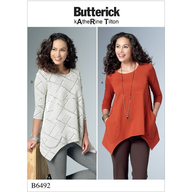 Tunic Sewing Patterns Misses Loose Knit Tunics Butterick Sewing Pattern 6492 Sew Essential