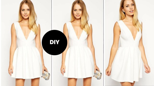 V Neck Dress Sewing Pattern Diy I How To Make A Skater Dress With Plunge Neckline I Beginner