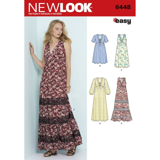 V Neck Dress Sewing Pattern New Look Womens V Neck Dress Sewing Pattern 6448 Hobcraft