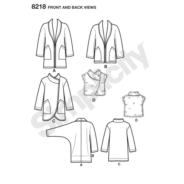 Vest Pattern Sewing Simplicity Pattern 8218 Misses Easy To Sew Jackets And Vest