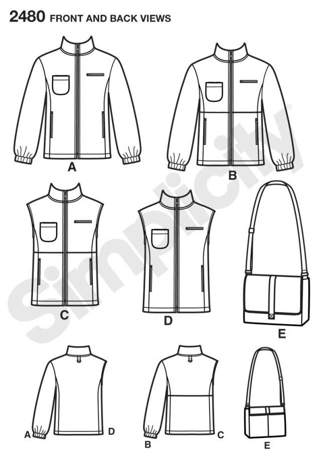 Vest Patterns To Sew Simplicity 2480 Missesmenteen Jacket