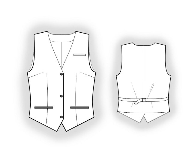 Vest Sewing Pattern Waistcoat Sewing Pattern 5954 Made To Measure Sewing Pattern