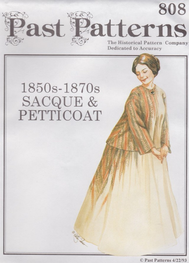 Victorian Sewing Patterns Old Time Patterns Past Patterns 808 1850s 1870s Sacque