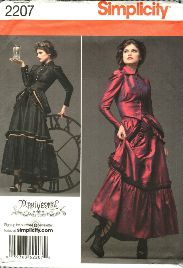 Victorian Sewing Patterns Steampunk Arkivestry Simplicity Sewing Pattern 14 16 18 20 Victorian