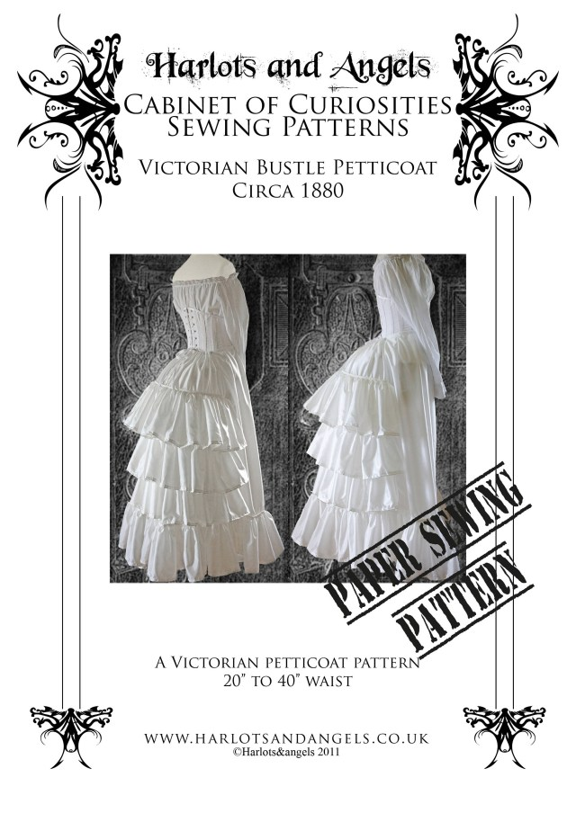 Victorian Sewing Patterns Steampunk Sewing Pattern Victorian Bustle Skirt Skirt Etsy