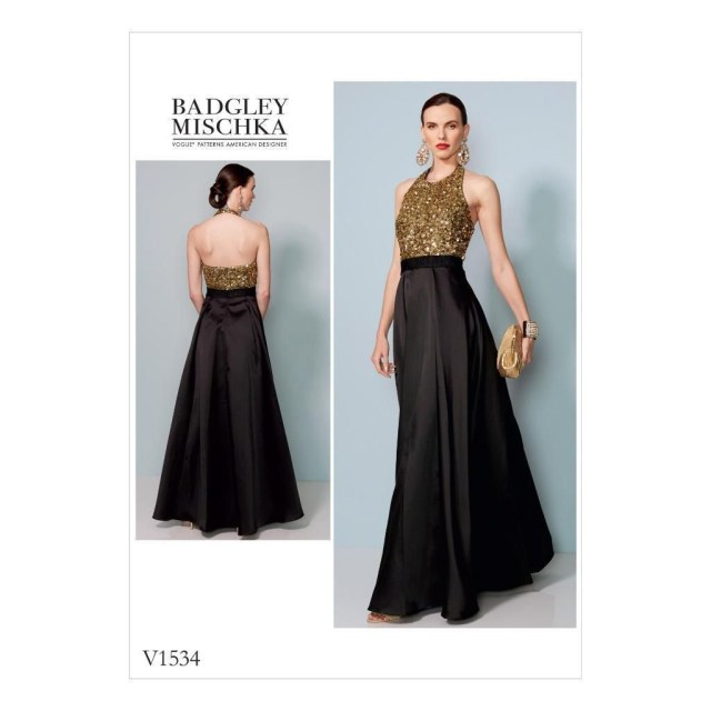 Vogue Sewing Patterns Vogue Sewing Pattern Misses Designer Halter Evening Dress Size 6