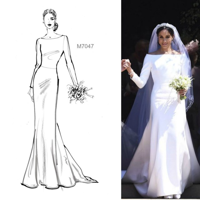Wedding Dress Sewing Pattern Sew The Meghan Markle Wedding Gown Looktm You Can Quickly Make A