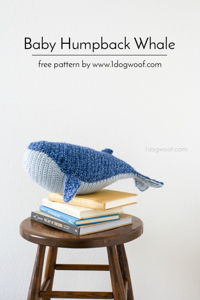 Whale Pattern To Sew Ba Humpback Whale Crochet Pattern One Dog Woof