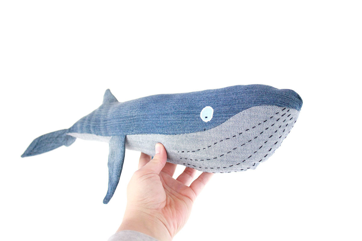 Whale Pattern To Sew Blue Whale Tutorial With Free Pattern Sewitsmade