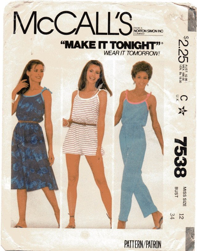 Womens Romper Sewing Pattern Sewing Pattern Vintage 1981 Summer Dress Jumpsuit Romper Etsy