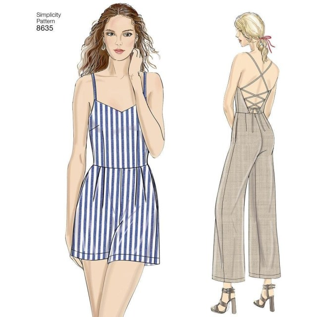Womens Romper Sewing Pattern Simplicity Sewing Pattern Women S Dress Jumpsuit And Romper Size 6