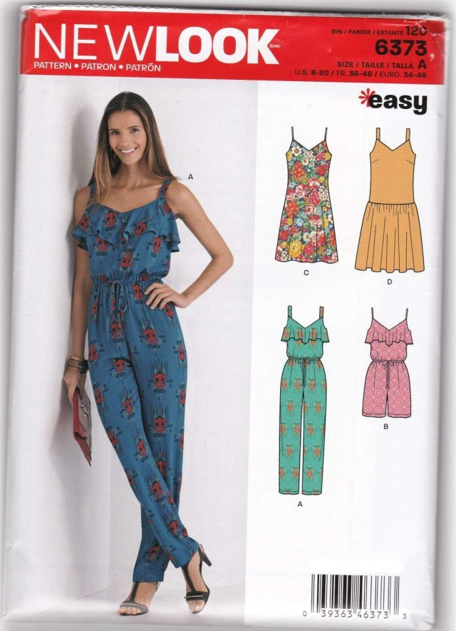 Womens Romper Sewing Pattern Women Jumpsuit Rompers Dresses Sewing Pattern New Look 6373 Sz 8 20