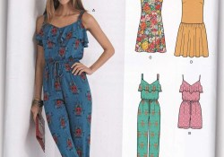 Womens Romper Sewing Pattern Women Jumpsuit Rompers Dresses Sewing Pattern New Look 6373 Sz 8 20