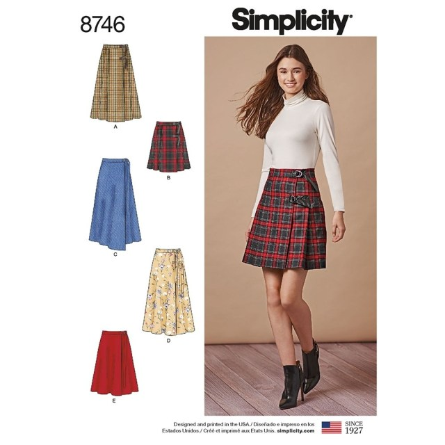 Wrap Skirt Sewing Pattern Misses Wrap Skirts Simplicity Sewing Pattern 8746 Sew Essential
