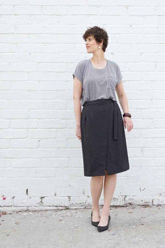 Wrap Skirt Sewing Pattern Nita Wrap Skirt Pdf Pattern Handmade Wardrobe Pinterest Skirts