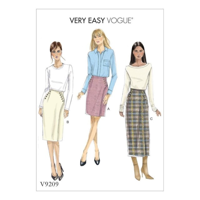 Wrap Skirt Sewing Pattern Vogue Sewing Pattern Misses Very Easy Vogue Fitted Wrap Skirt Size 6