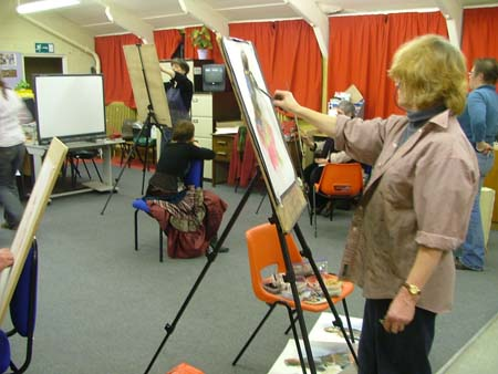 Most community life drawing groups consist of middle age men and women.