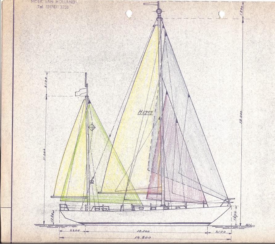 Ariane sail plan