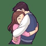 Figurinhas com Abraço