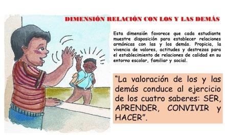 RELACIÓN CON LOS Y LAS DEMÁS Y CURRÍCULO CON ENFOQUE DE COMPETENCIAS.