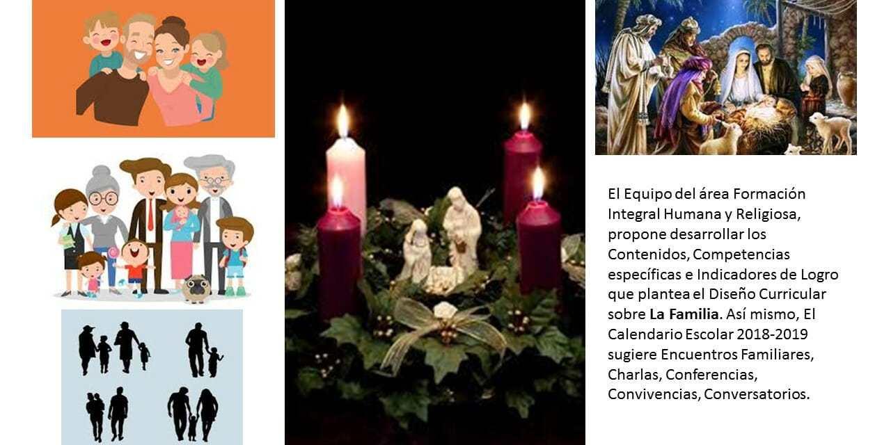 Guía de contenidos sobre la Familia, Adviento y Navidad