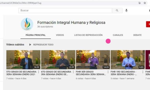 Acceso a videos de las clases televisadas del área Formación Integral Humana y religiosa