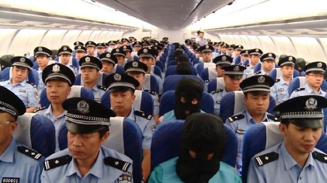 Chinese nations being flown back to China from Fiji