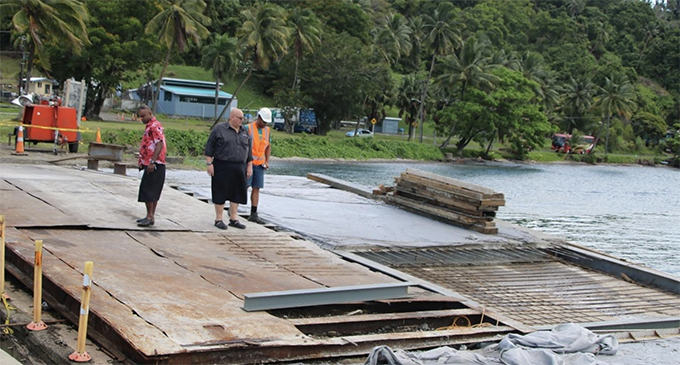 Fiji Roads Authority chief executive officer earlier this year during his visit to Savusavu.