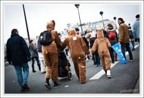 Une famille d'ours bruns. Assez peu de déguisements ou d'accoutrements surprenants. L'ensemble du cortège était très classique.