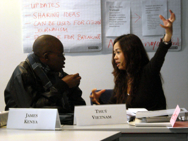 Thuy, right: One wonders whether she is explaining or criticising!