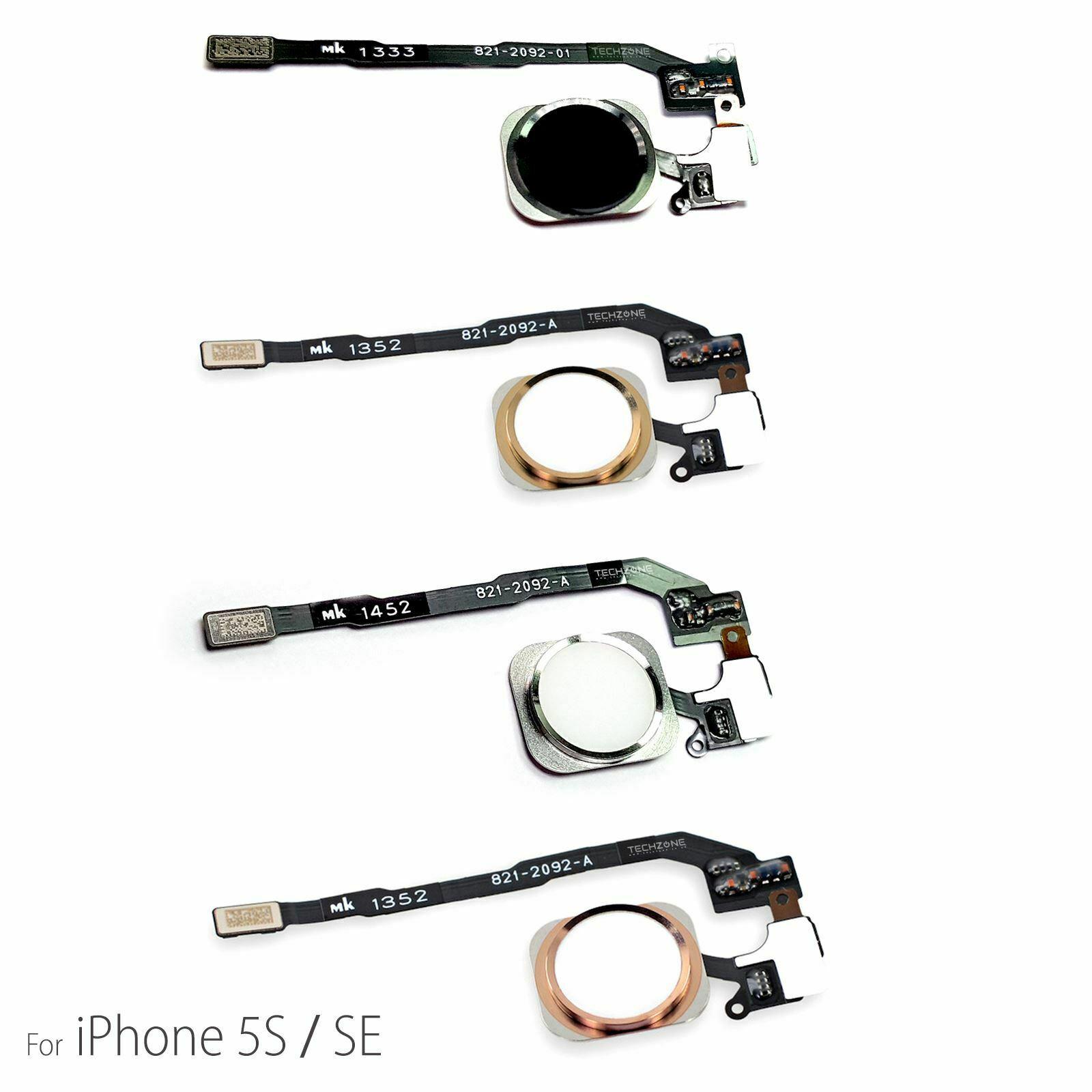 Hjemknapp For Iphone 5s Amp Se Homebutton Sort Gull