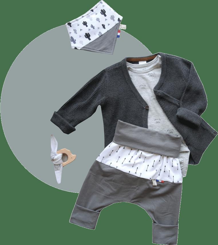 vêtement bébé fil et du joli coton