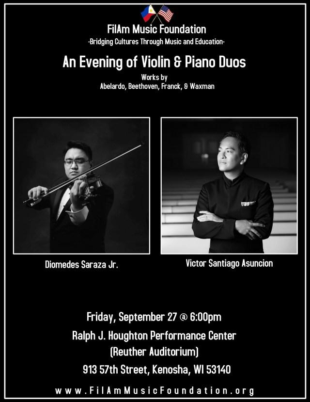 An Evening of Violin Piano Duos kenosha