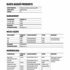 Olejek CBD Konopny 12% CBD+CBDA 10ml Full Spectrum Certyfikowany