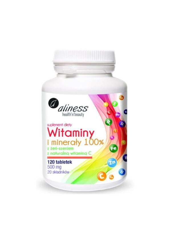witaminy i minerały 100% Aliness