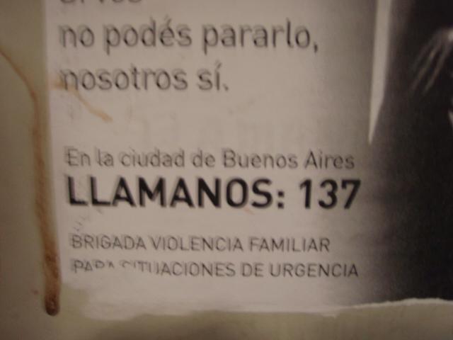 Comunicar cualquier observación que pueda ser de utilidad al número de teléfono 137.