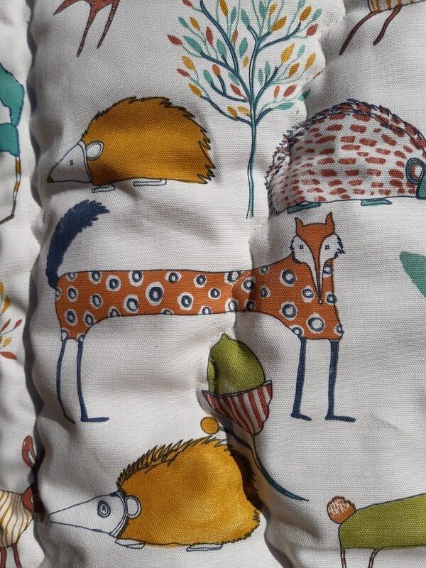 couette en laine bébé motif