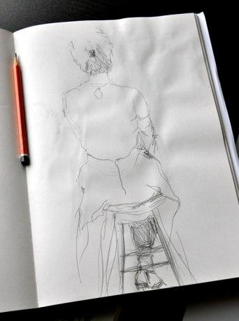 Pencil skirt sketch 2015