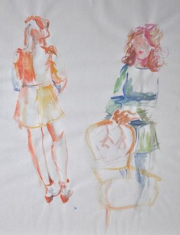 Watercolour skirt sketch 2015